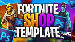 [FREE] FORTNITE SHOP TEMPLATE | PHOTOSHOP PACK