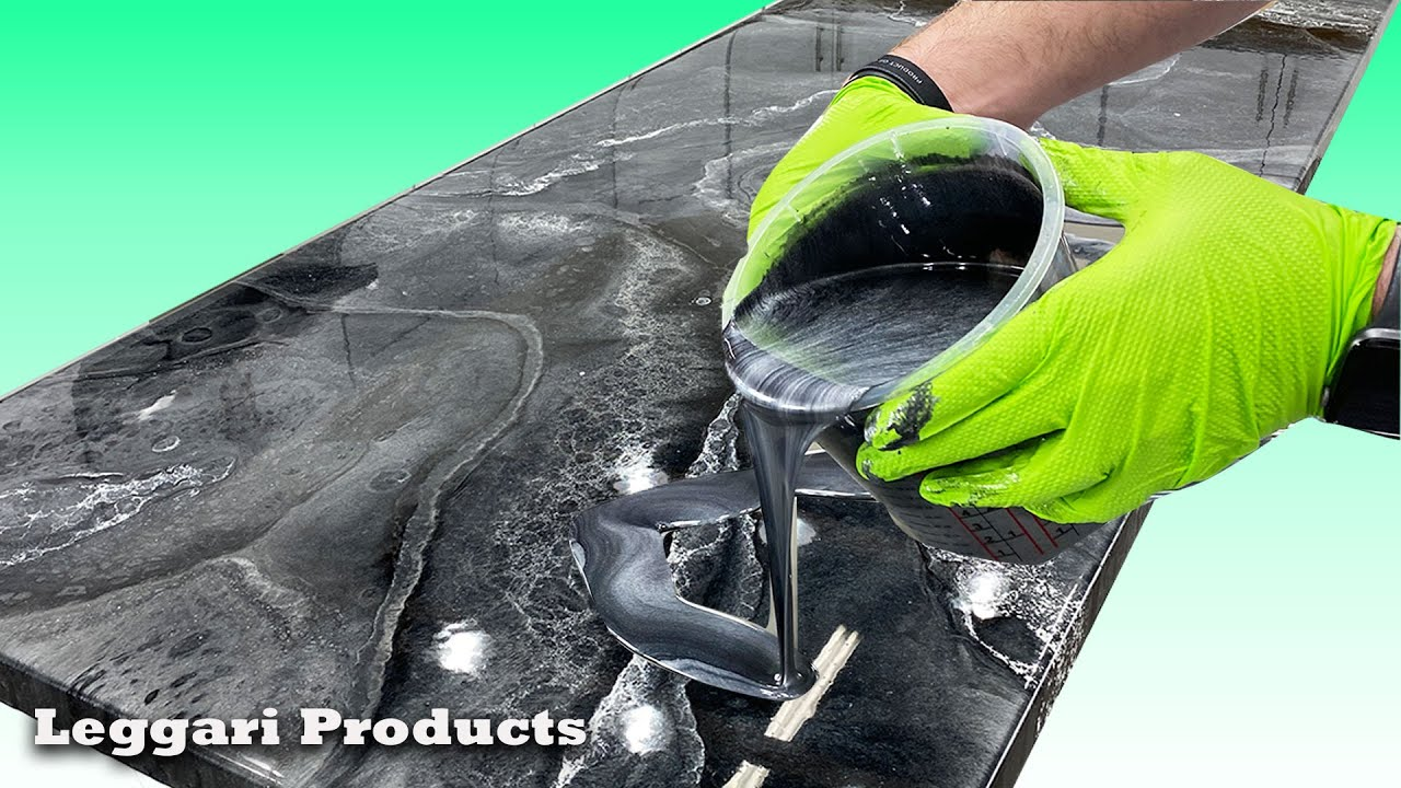 Use Epoxy To Resurface Countertops To Make A Faux Stone/Marble Look   DIY Countertop Remodel Ideas