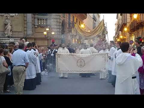 Corpus Domini a Palermo, Benedizione Eucaristica alla Città di Palermo - Quattro Canti