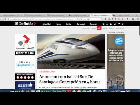 CHILE Anuncia 2 Proyectos de TRENES BALA que Uniran las Ciudades de Santiago, Valpo y Concepcion