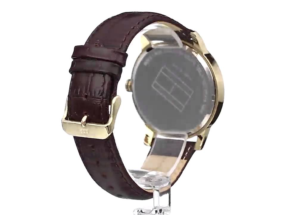 Una certa Riciclare Residenza  Tommy hilfiger Gold tone watch - YouTube