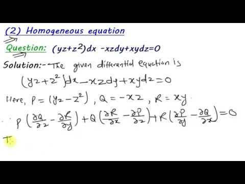 Homogeneous equations | total differential equations ||B Sc maths 3rd year  2019