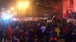 Marocains célèbrent qualification coup du monde 2018 à Bruxelles
