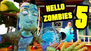HELLO ZOMBIES 5 - Hello Neighbor Plants vs Zombies Mod