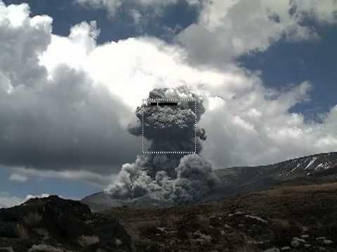 mt tongariro eruption november 2012 youtube