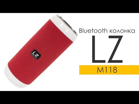 Портативна Bluetooth колонка LZ M118 Red