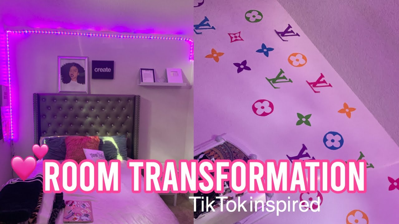 Tiktok Inspired Room Transformation Part 1 Youtube