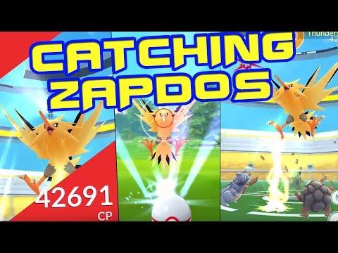 Catching Zapdos - Legendary Raid Battle - Pokemon GO