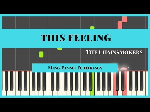 This Feeling - The Chainsmokers Piano Cover Tutorial (midi sheets) Ming Piano Tutorial