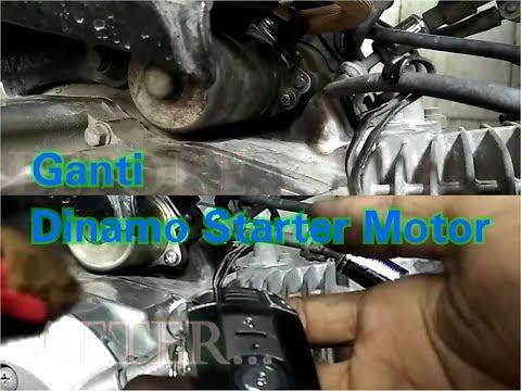 Membongkar dan Ganti Pasang Dinamo Starter Motor bebek Smash yang Berbeda