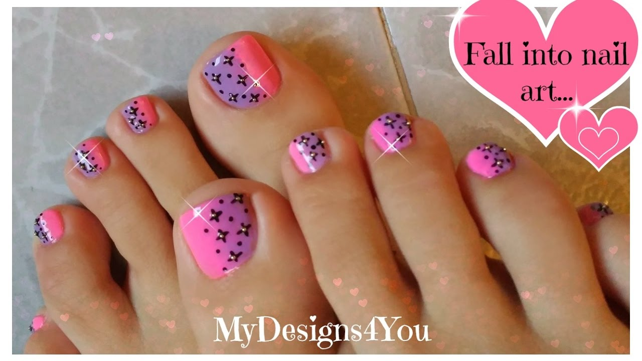 Pink Ombre Toenail Art Design ♥ Easy Pedicure   YouTube
