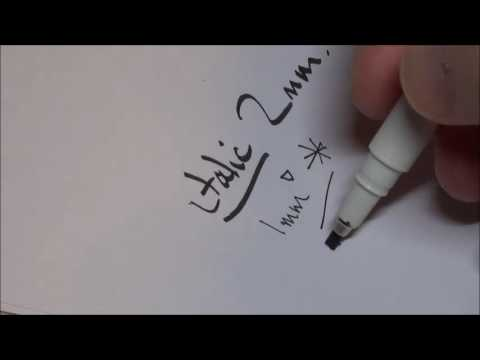 Artline EK 240W4 Calligraphy Pen Review
