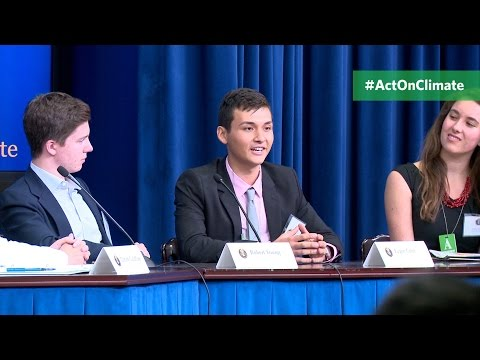 Students and Teachers Act on Climate at the White House