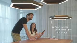 Exagon Silence con Biolight technology: la lampada fonoassorbente che riproduce la luce naturale