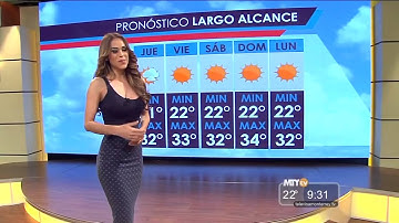 Wettermoderatorin in Mexiko