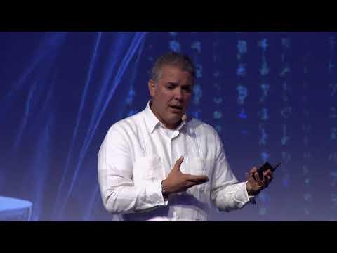 Ivan Duque habla de factura electrónica, ciberseguridad y acceso a las tecnologías.  C34 N3
