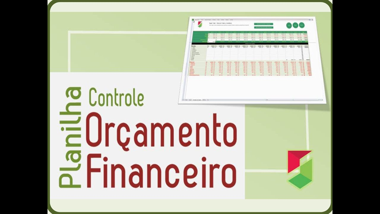 Planilha para Controle de Orçamento Financeiro - YouTube
