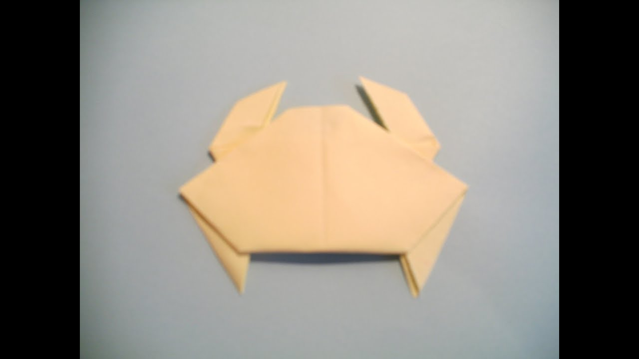 origami crab youtube