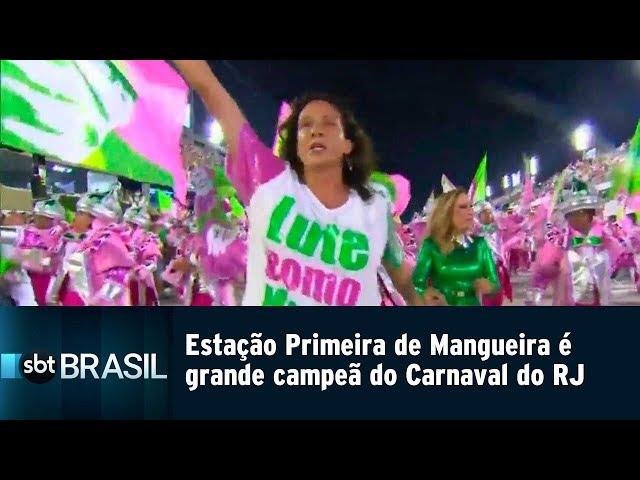 Estação Primeira de Mangueira é grande campeã do Carnaval do Rio de Janeiro | SBT Brasil (06/03/19)