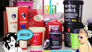 Teste Lola Cosmetics - Crono Lola, Lola Colors, Umectação de Oliva