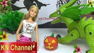 Đồ chơi trẻ em Bé Na Búp bê Barbie Khủng long quà Halloween Baby Doll Dinosaur Childrens toys