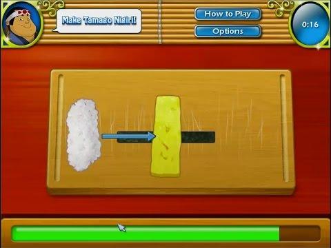เกมทำอาหารญี่ปุ่น ซูชิไข่หวาน tamago nigiri にぎり寿司 卵焼 Cooking Game