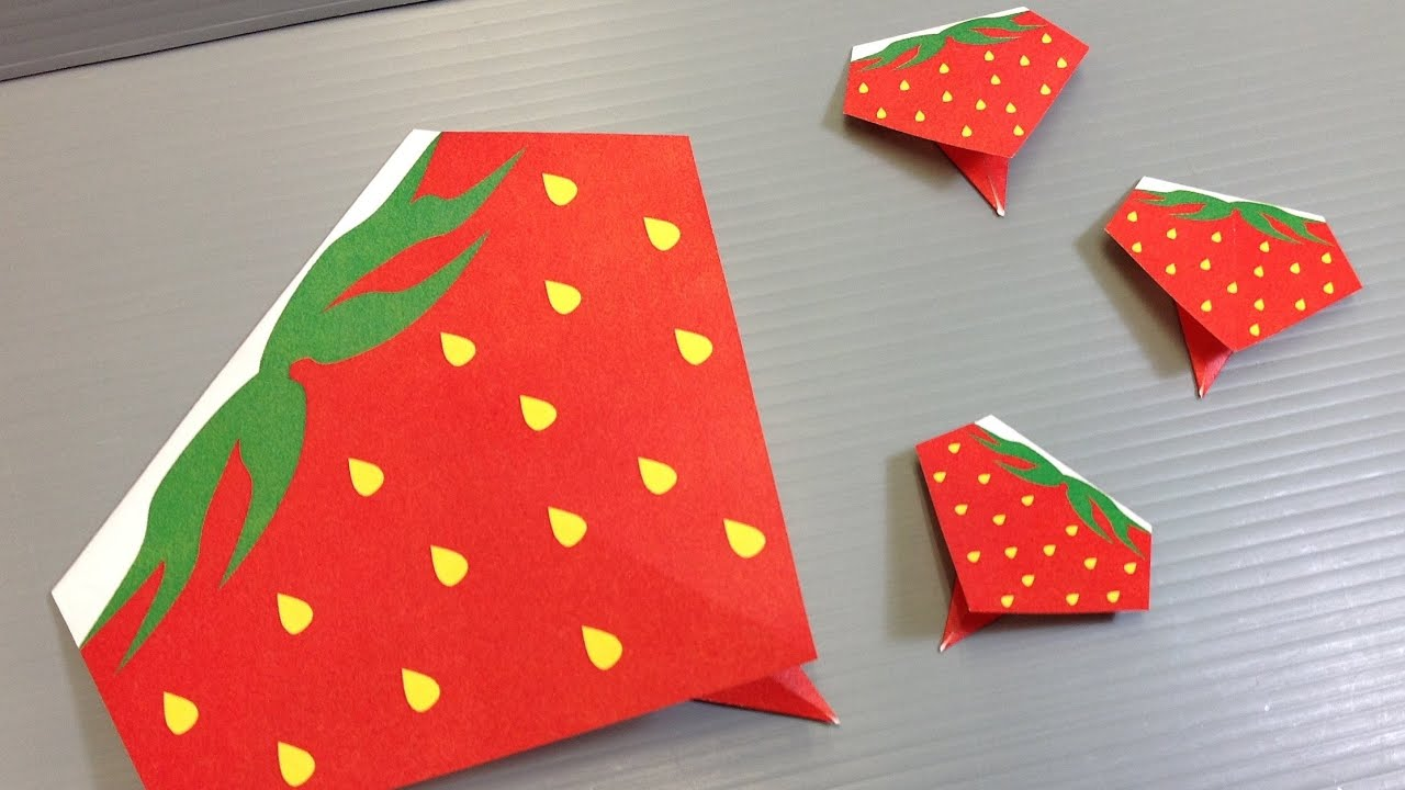 very easy origami strawberry print at home youtube
