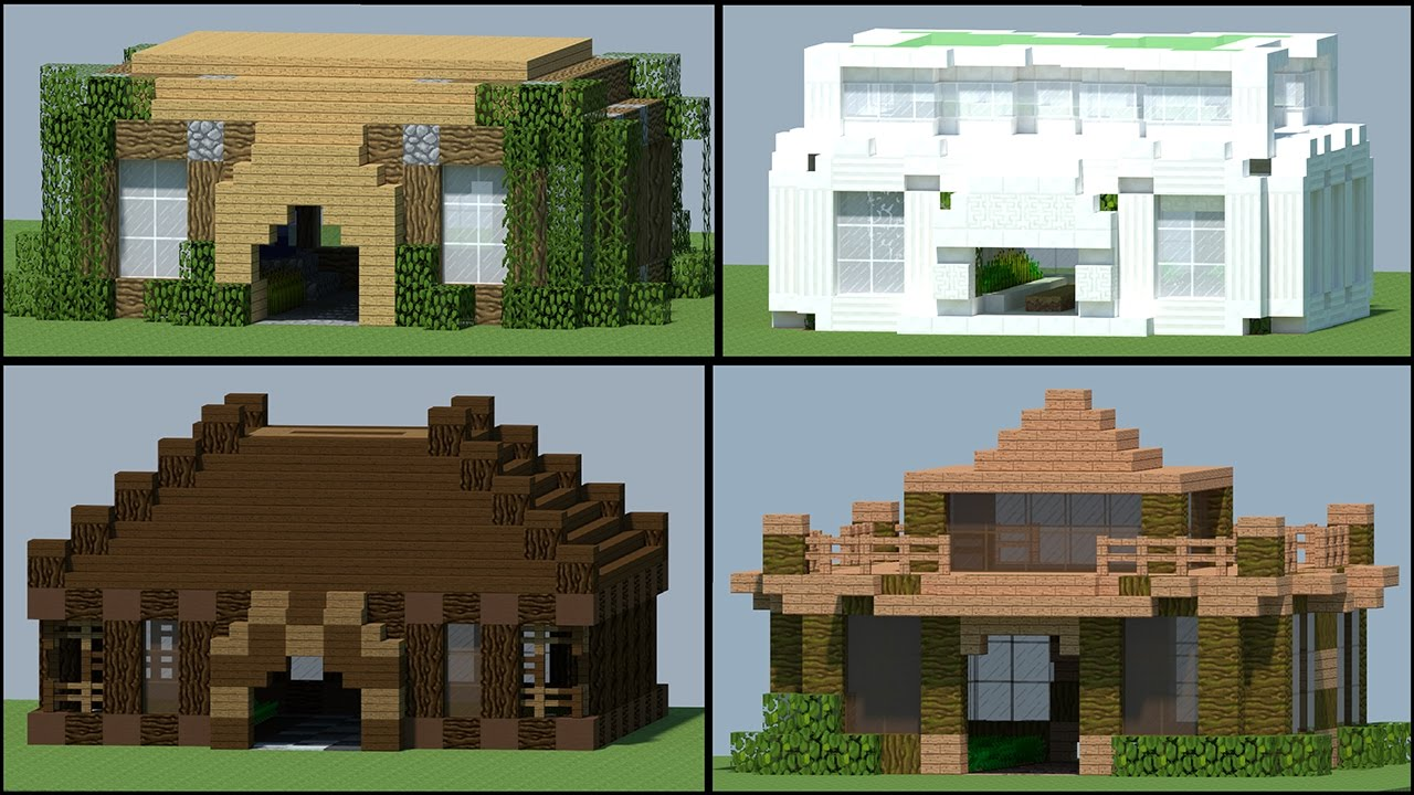 5 Coole Farm Haus Designs - Minecraft 1.11 - YouTube