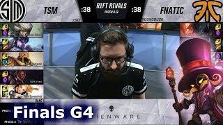 TSM vs Fnatic | Game 4 Relay Race Finals NA vs EU Rift Rivals 2019 LoL | TSM vs FNC