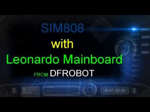 UNBOXING DFROBOT SIM808 with Leonardo Mainboard SKU:DFR0355