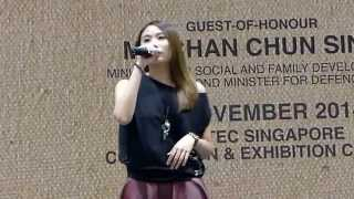 [FANCAM] 141122 Ultimate Hawker Fest 2014 -  林思彤 Lin Si Tong -  黑翼心灵