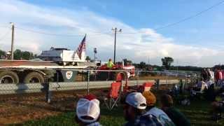 Massey Ferguson 98 w/ 3-71 Detroit Diesel - Tractor Pull @ Salem County Fair 8/9/13