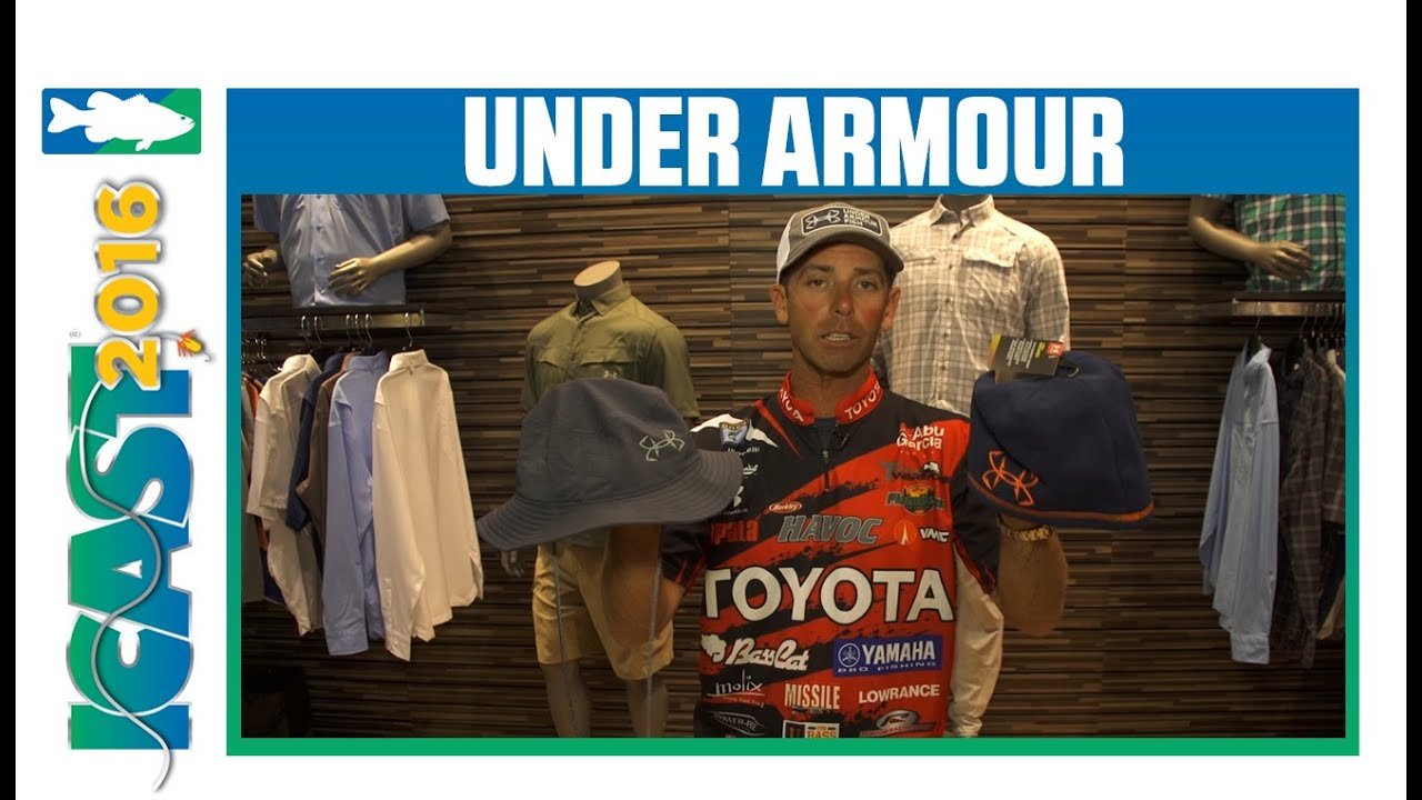 Under Armour Bucket Hat, Beanie & Camo Bucket Cap with Mike Iaconelli |  ICAST 2016