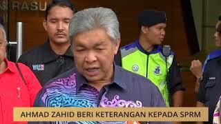 Sidang media Presiden UMNO, Zahid Hamidi dari Putrajaya