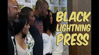 Interviews with the cast of Black Lightning CW! - Pretty Brown & Nerdy