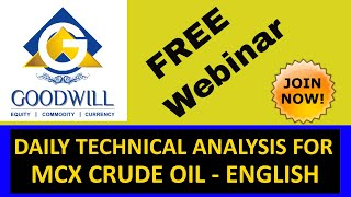 MCX CRUDE OIL TRADING TECHNICAL ANALYSIS APRIL 18 2017 IN ENGLISH