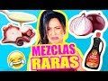 PROBANDO MEZCLAS RARAS DE COMIDA! RETO SandraCiresArt Food Challenge