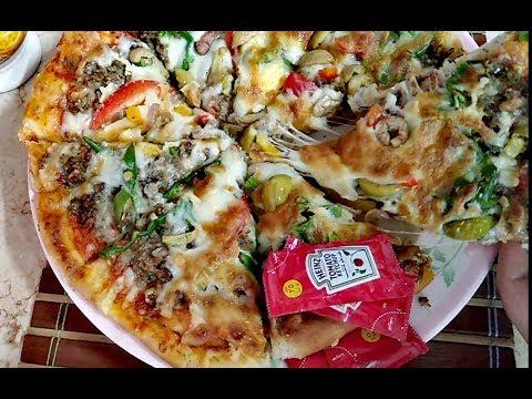 صورة  طريقة عمل البيتزا طريقة عمل البيتزا بكل أسرار المحلات اللي مش هتلاقيها في اي حته 💪وبعجينة هشة وطرية جدااا😋ا طريقة عمل البيتزا من يوتيوب