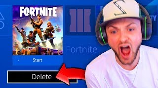 THIS made Ali-A *DELETE* Fortnite: Battle Royale!