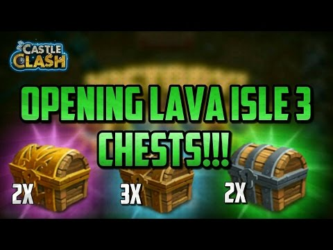 Lava Isle 3 Chests!!! Very Good Rewards! Castle Clash