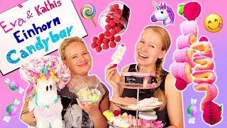 UNICORN CANDY BAR selber machen | Eva & Kathis Einhorn DIY Süßigkeiten Bar für Partys & Geburtstag