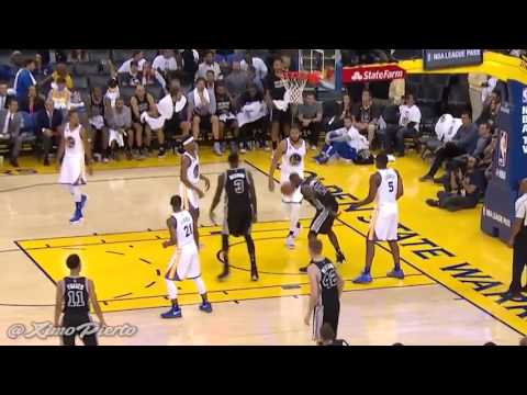 Jonathan Simmons Posterize JaVale McGee   Spurs vs Warriors   October 25, 2016   2016 17 NBA Season