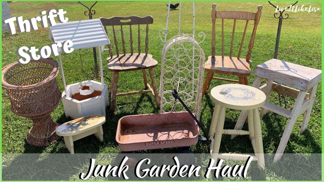 HAUL  THRIFT STORE  Junk Garden Decor