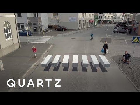 "A small town in Iceland created a""levitating"" crosswalk to slow traffic"
