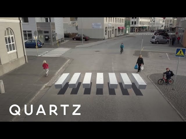 "Iceland's trying to slow traffic with a ""floating"" crosswalk"