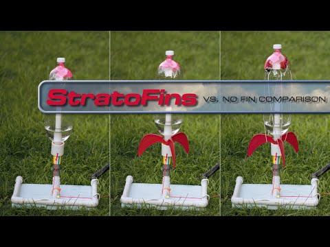 No Fins vs Fins Comparison - Terminate the Tumble w/ StratoFins
