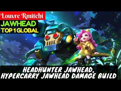 HeadHunter Jawhead, Hypercarry Jawhead Damage Build [Top 1 Global] | Louvre Rmitchi Jawhead