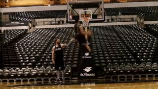 Isaiah Rivera :: Indiana Pacers Arena Dunk Session Video