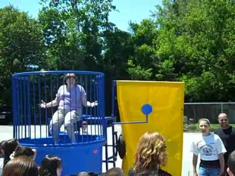 Mrs. Wheeler gets dunked at Thornton School's annual Field Day, 6/14/2012