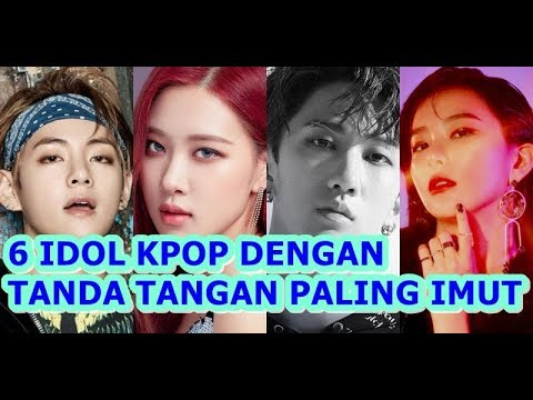 6 Idol Kpop Punya Tanda Tangan Paling Imut Youtube